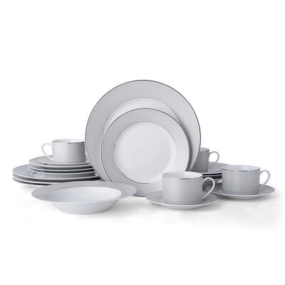 "Mikasa ""Percy Grey"" 20-pc. Service for 4 Dinnerware Set"