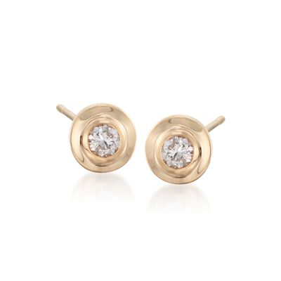 .25 ct. t.w. Diamond Bezel-Set Stud Earrings in 14kt Yellow Gold