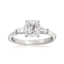 Henri Daussi 1.23 ct. t.w. Certified Diamond Engagement Ring in 18kt White Gold, , default