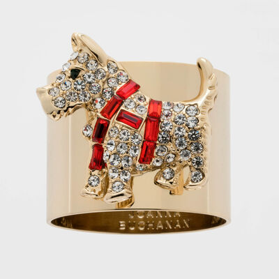 Joanna Buchanan Set of 2 Scottie Dog Napkin Rings, , default