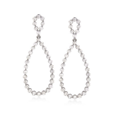 3.00 ct. t.w. Diamond Drop Earrings in 14kt White Gold, , default