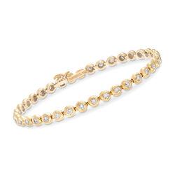 C. 1990 Vintage Tiffany Jewelry 2.25 ct. t.w. Diamond Tennis Bracelet in 18kt Yellow Gold, , default