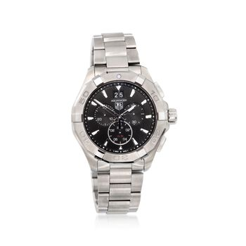 TAG Heuer Aquaracer Men's 43mm Chronograph Stainless Steel Watch - Black Dial, , default