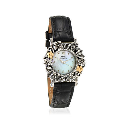 Saint James Floral Watch in Sterling Silver and 14kt Yellow Gold, , default