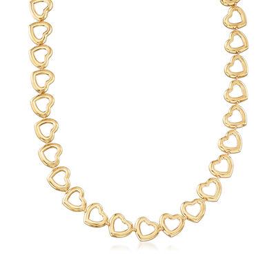 18kt Gold Over Sterling Heart Necklace
