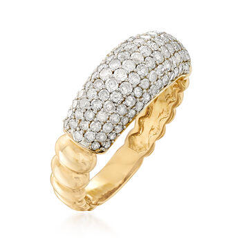 1.00 ct. t.w. Pave Diamond Ring in 14kt Yellow Gold