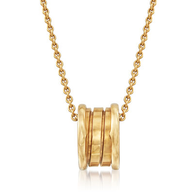 C. 1990 Vintage Bulgari 18kt Yellow Gold Barrel Necklace, , default