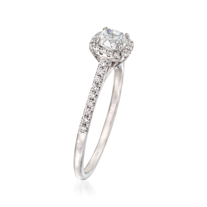 .72 ct. t.w. Diamond Halo Engagement Ring in 14kt White Gold