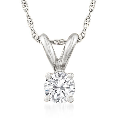 .25 Carat Diamond Solitaire Necklace in 14kt White Gold