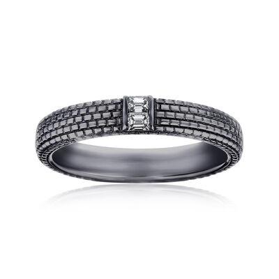 Men's .12 ct. t.w. Diamond Wedding Ring in 14kt White Gold, , default