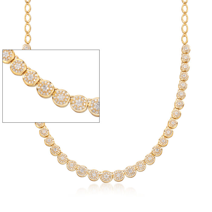 2.00 ct. t.w. Diamond Necklace in 18kt Gold Over Sterling, , default