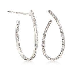 .25 ct. t.w. Diamond Forward-Facing Hoop Earrings, , default