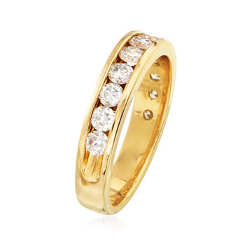 C. 1990 Vintage 1.20 ct. t.w. Channel-Set Diamond Wedding Band in 14kt Yellow Gold. Size 7, , default