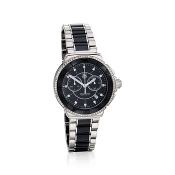 TAG Heuer Formula 1 Women's 41mm .53 ct. t.w. Diamond Watch in Stainless Steel and Black Ceramic , , default