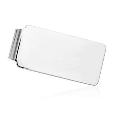 14kt White Gold Polished Engravable Money Clip
