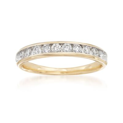 .50 ct. t.w. Diamond Wedding Ring in 14kt Yellow Gold, , default