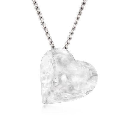 Italian Sterling Silver Heart Pendant Necklace