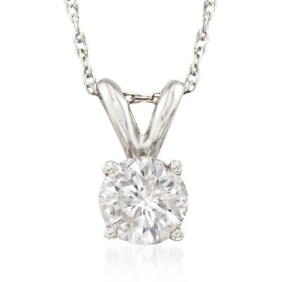 .50 Carat Diamond Solitaire Necklace in 14kt White Gold