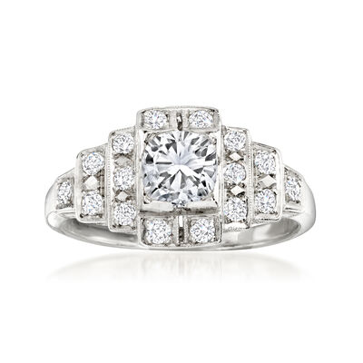 C. 2000 Vintage 1.00 ct. t.w. Diamond Ring in Platinum