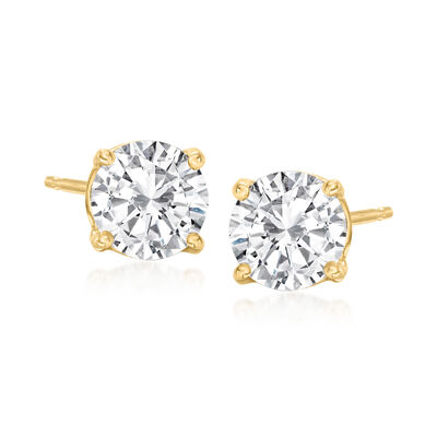 1.50 ct. t.w. Diamond Stud Earrings in 14kt Yellow Gold