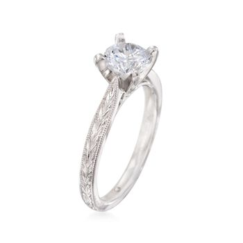 Gabriel Designs 14kt White Gold Engagement Ring Setting