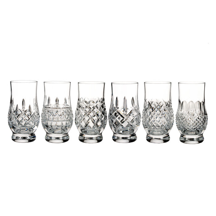 "Waterford Crystal ""Connoisseur"" Set of 6 Heritage Footed Tasting Tumbler Glasses, , default"