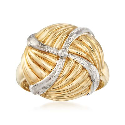 14kt Yellow Gold Ribbed Pinwheel Ring, , default