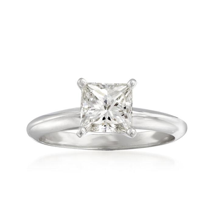 1.21 Carat Certified Princess-Cut Diamond Ring in 14kt White Gold