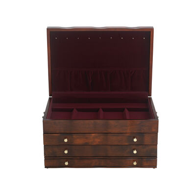 "Reed & Barton ""Athena"" Jewelry Box in Mahogany, , default"