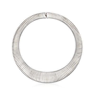 C. 1990 Vintage Sterling Silver Collar Necklace, , default