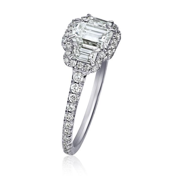 1.37 ct. t.w. Diamond Three-Stone Ring in Platinum
