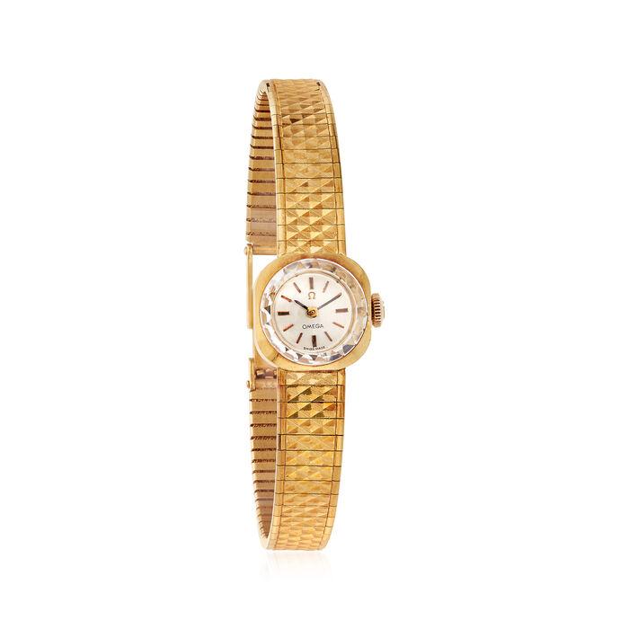 C. 1960 Vintage Omega De Ville Women's 15mm 18kt Yellow Gold Manual Watch. Size 7