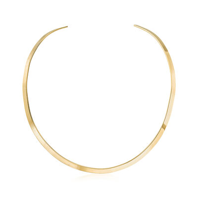5mm 18kt Gold Over Sterling Open Collar Necklace, , default