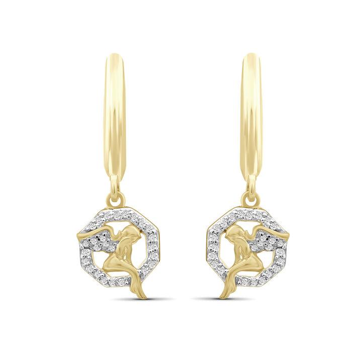 .15 ct. t.w. Diamond Angel Drop Earrings in 18kt Gold Over Sterling, , default