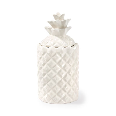 """Thompson Ferrier """"Wildflower"""" White Pineapple Candle, , default"""