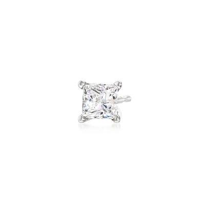 .25 Carat Princess-Cut Diamond Single Stud Earring in 14kt White Gold