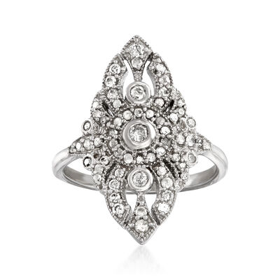 .50 ct. t.w. Diamond Openwork Ring in Sterling Silver