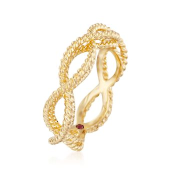 "Roberto Coin ""Barocco"" 18kt Yellow Gold Braided Ring. Size 6.5"