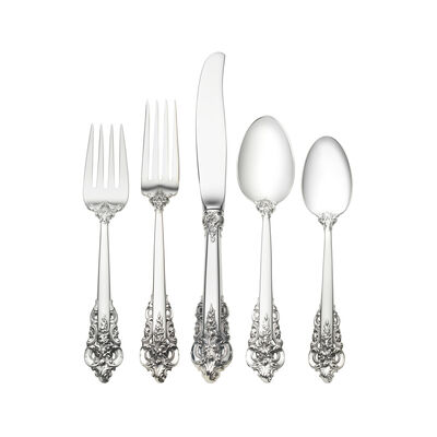 "Wallace ""Grande Baroque"" 66-pc. Service for 12 Sterling Silver Dinner Setting"