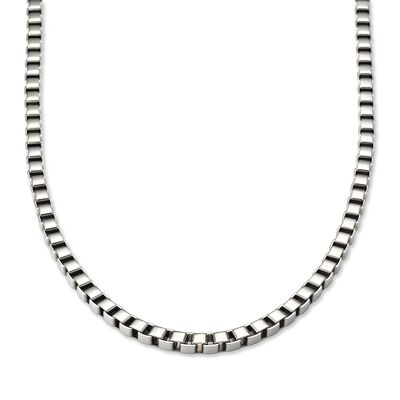Men's 6mm Stainless Steel Box-Link Necklace , , default