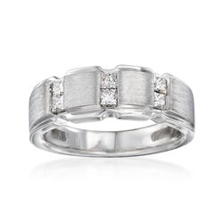 Men's .49 ct. t.w. Diamond Ring in 14kt White Gold, , default
