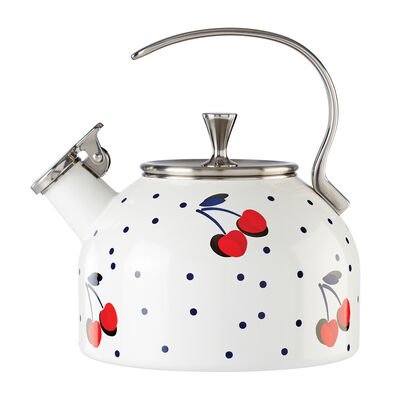 "Kate Spade New York ""Vintage Cherry Dot"" Tea Kettle"