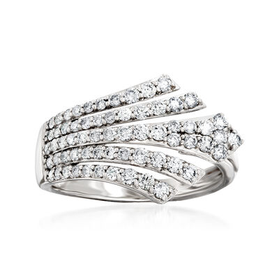 .75 ct. t.w. Diamond Multi-Row Ring in 14kt White Gold