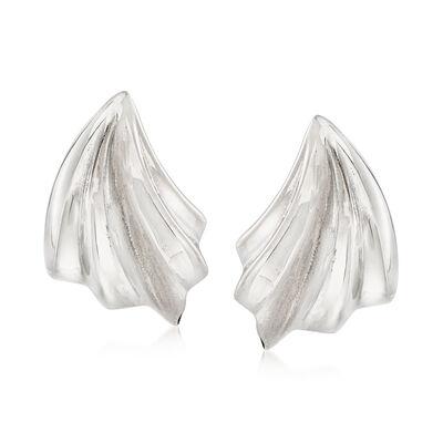 Italian 18kt White Gold Clip-On Earrings, , default