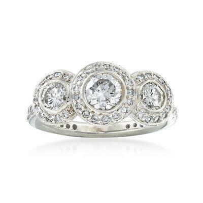 C. 2000 Vintage Ritani 1.30 ct. t.w. Diamond Ring in Platinum, , default