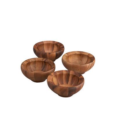 """Nambe """"Yaro"""" 4-pc. Acacia Wood Salad Bowls, , default"""