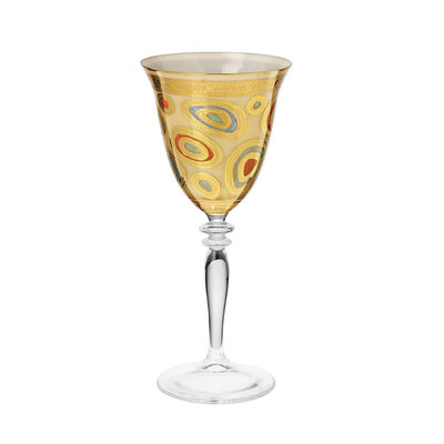 "Vietri ""Regalia"" Cream Wine Glass"