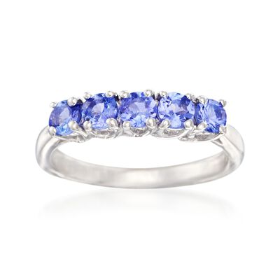 .70 ct. t.w. Tanzanite Five-Stone Ring in Sterling Silver