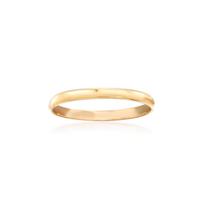 Baby's 14kt Yellow Gold Band Ring. Size 1