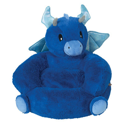Children's Plush Dragon Character Chair, , default